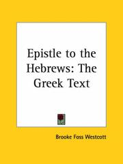 Cover of: Epistle to the Hebrews | B. F. Westcott