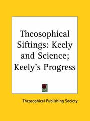 Cover of: Theosophical Siftings | Publish Theosophical Publishing Society