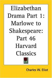 Cover of: Elizabethan Drama, Part 1 by Charles W. Eliot