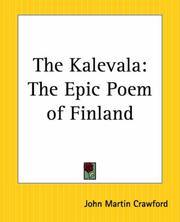 Cover of: Kalevala | John Martin Crawford