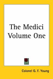 Cover of: The Medici by Colonel G. F. Young