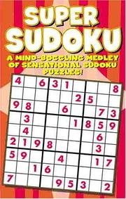 Cover of: Super Sudoku Puzzle Book | Modern Publishing