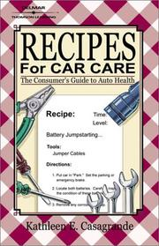 Cover of: Recipes for Car Care | Kathleen E. Casagrande