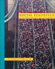 Cover of: Social Statistics by J. Richard Kendrick