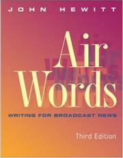 Cover of: Air Words | John Hewitt
