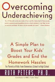 Cover of: Overcoming Underachieving | Ruth Peters