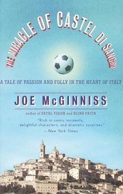 Cover of: The Miracle of Castel di Sangro | Joe Mcginniss