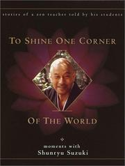 Cover of: To Shine One Corner of the World by David Chadwick