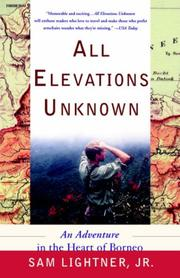 Cover of: All Elevations Unknown | Sam Jr Lightner