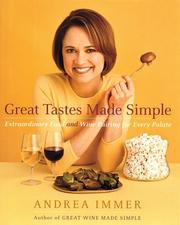 Cover of: Great Tastes Made Simple | Andrea Immer