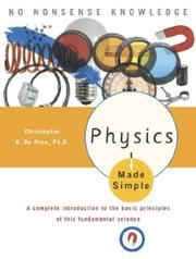 Cover of: Physics Made Simple | Christopher De Pree