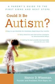 Cover of: Could It Be Autism? | Nancy Wiseman