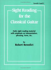 Cover of: Sight Reading for the Classical Guitar, Level IV-V"