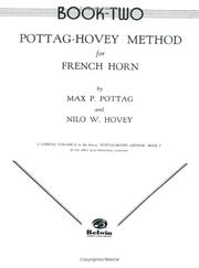 Cover of: Pottag-hovey Method for French Horn, Book II | Nilo Hovey