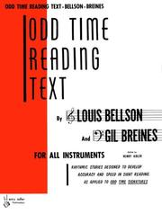 Cover of: Odd Time Reading Text: For All Instruments | Louis Bellson