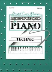 Cover of: David Carr Glover Method for Piano / Technic, Primer"