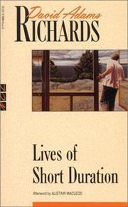 Cover of: Lives of Short Duration | David Adams Richards