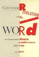 Cover of: Counter-revolution of the word by Alan Filreis