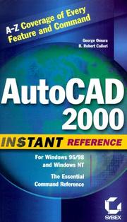 Cover of: AutoCAD 2000 instant reference | George Omura