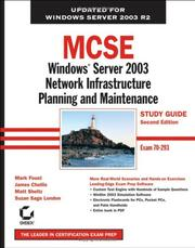 Cover of: MCSE: Windows Server 2003 Network Infrastructure Planning and Maintenance Study Guide | James Chellis