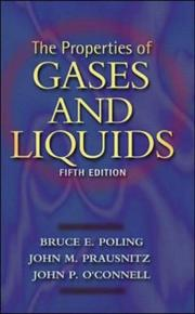 Cover of: The properties of gases and liquids by Bruce E. Poling