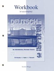 Cover of: Workbook to accompany Deutsch | DIDONATO