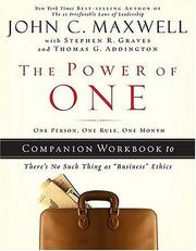 Cover of: The Power of One | John C. Maxwell