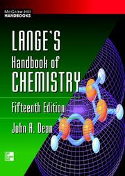 Cover of: Lange's Handbook of Chemistry by John A. Dean