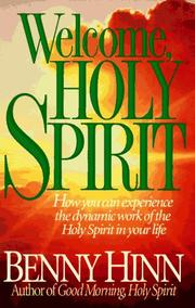 Welcome holy spirit open library cover of welcome holy spirit benny hinn fandeluxe Choice Image
