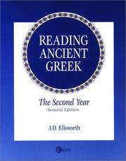Cover of: Reading Ancient Greek by J. D. ELLSWORTH