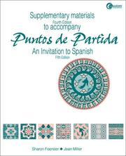 Cover of: Supplementary Materials t/a Puntos de Partida by Sharon W. Foerster