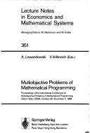 Cover of: Multiobjective problems of mathematical programming by International Conference on Multiobjective Problems of Mathematical Programming (1988 Yalta, USSR)