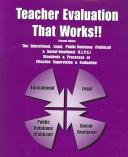 Cover of: Teacher Evaluation That Works!! | William B. Ribas