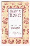 Cover of: Sources of Indian Tradition, Volume Two | Stephen Hay