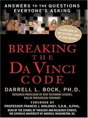 Cover of: Breaking the Da Vinci Code by Darrell L. Bock