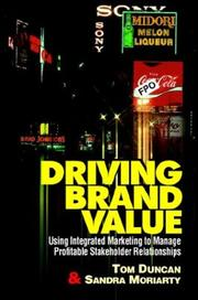 Cover of: Driving Brand Value | Duncan, Tom