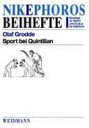 Cover of: Sport bei Quintilian by Olaf Grodde