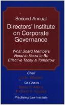 Cover of: Second annual Directors' institute on corporate governance | Directors' Institute on Corporate Governance (2nd 2004)