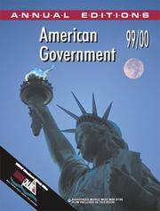 Cover of: American Government 99/00 (American Government, 99/00) by Bruce Stinebrickner