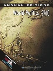 Cover of: World Politics 99/00 (World Politics, 1999-2000) | Helen E. Purkitt