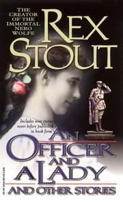Cover of: An officer and a lady, and other stories by Rex Stout
