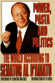 Cover of: Power, Pasta & Politics by Alfonse D'Amato