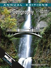 Cover of: Geography 99/00 (Geography, 99/00) | Gerald R. Pitzl