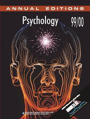 Cover of: Psychology 99/00 | Karen G. Duffy