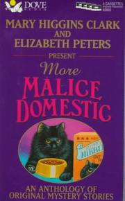 Cover of: More Malice Domestic | Elizabeth Peters