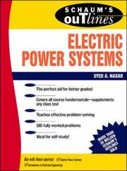 Cover of: Schaum's Outline of Electrical Power Systems | Syed A Nasar