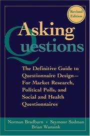 Cover of: Asking questions | Norman M. Bradburn
