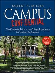 Cover of: Campus Confidential | Robert H. Miller