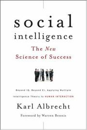 Cover of: Social intelligence by Karl Albrecht