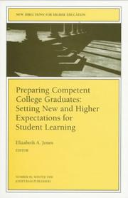 Cover of: Preparing Competent College Graduates: Setting New and Higher Expectations for Student Learning | Elizabeth A. Jones
